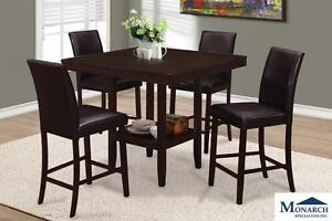 Brand NEW Cappuccino Counter Height Table with 4 Chairs! Call 709-489-1001!