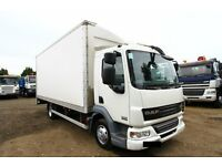 2007 57 PLATE DAF LF 45.140 4X2 BOX TRUCK WITH TAIL LIFT EXPORT TO AFRICA VOLVO SCANIA MAN IVECO
