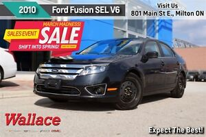 2010 Ford Fusion SEL 3.0L V6/ACCIDENT-FREE/MOONROOF/SYNC/FOGS/8-