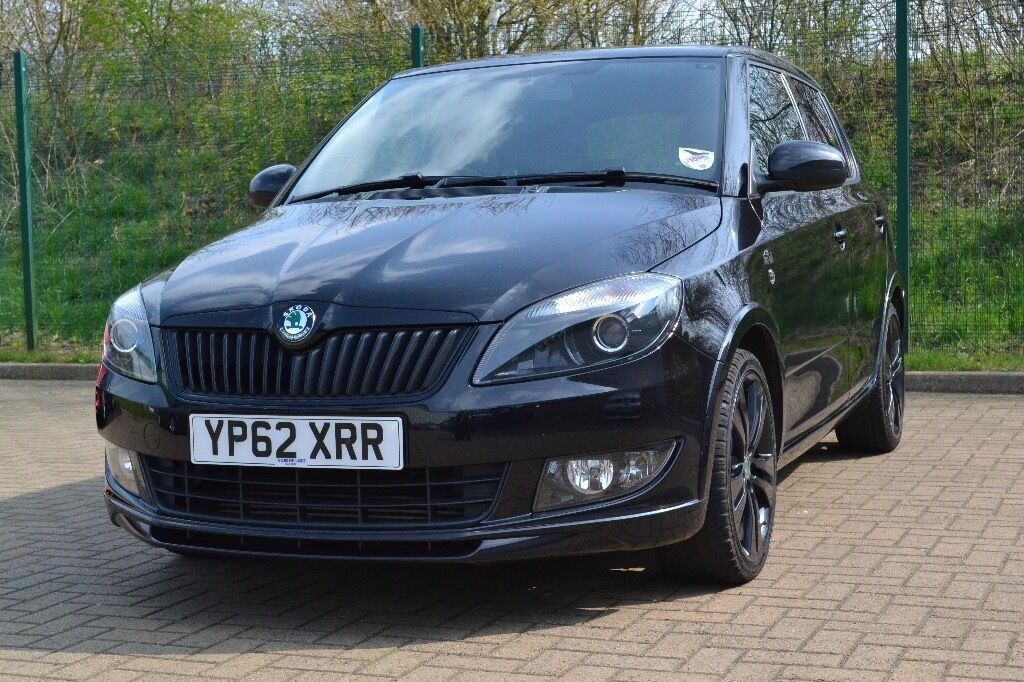 2012 62 skoda fabia monte carlo 1 6tdi 75ps in black magic 24k miles good condition warranty. Black Bedroom Furniture Sets. Home Design Ideas