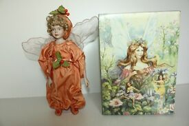 Fairies Fairy Porcelain Doll Orange Outfit