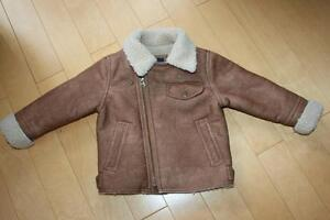 GAP Boys Tan Faux Suede coat Size 2