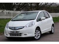 HONDA JAZZ 1.3 IMA HS 5d AUTO 102 BHP RAC WARRANTY + BREAKDOWN COVER!! (white) 2012