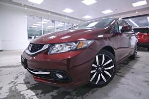 2013 Honda Civic Sdn TOURING PACKAGE, LEATHER, SUNROOF, NO ACCID