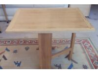 Solid wood folding table side table coffee table