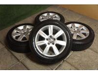 "Genuine VW Polo 15"" Alloy wheels & Tyres 5x100 Ibiza Fabia Fox 9N"