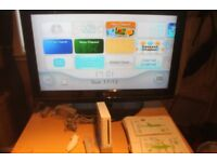 nintendo wii with balance board and games bundle