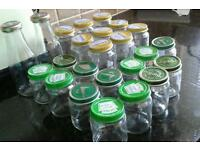 Joblot bundle upcycle glass baby food jars. Wedding favours