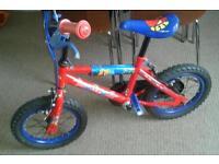 Spiderman bike.