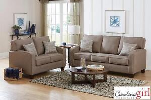 Jitterbug Taupe Sofa & Loveseat!