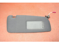 Bmw E46 3 Series RIGHT Sun Visor Black Cloth (Offside / UK Drivers Side))
