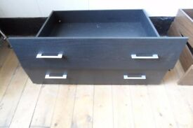 Neo underbed drawers / storage , kingsize black