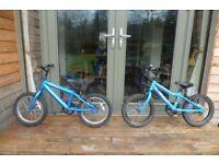 2 x Ridgeback MX16 kids bikes for sale