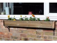 Wooden Garden Planter/ window box/ Trough/ Plant Pot Box