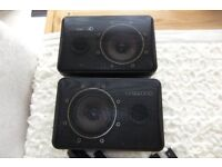 Kenwood CM-5 Surround speakers (40w) plus 2 Wall brackets