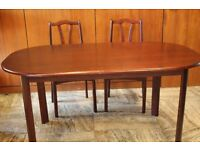Solid Wood Dining Table and 2 Matching Chairs