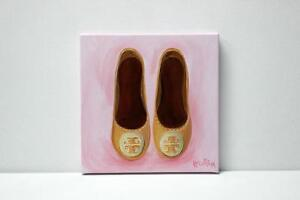 SALE Original Pink Tory Burch Flats Painting Illustration West Island Greater Montréal image 3