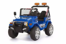 12 volt twin speed Drifter Jeep in blue 'as new'