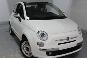 2015 Fiat 500C LOUNGE*CUIR*CONVERTIBLE*MAGS*BAS KM!