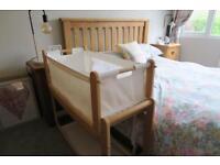 Snuzpod 3 in 1 Bedside Crib + *new* mattress & 2 x crib protectors by Little Green Sheep Company.