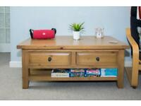 Beautiful Large Oak Coffee Table with Draws