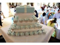 3 tier square cake stand