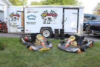 Complete CRG Racing Go Kart Team with Trailer