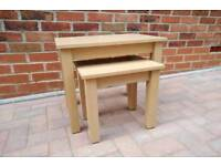 Lounge Furniture – Beech Effect (Coffee Table, TV Stand and Nest 2 Tables)