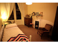 AVAILABLE NOW: short term (1 month) large furnished double bedroom leafy Hyndland £500 all inclusive