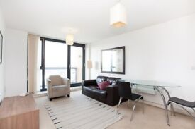 Modern, Furnished, 1 bed minute walk to Canning Town Station E16 with Balcony MB