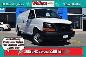 2016 GMC Savana 2500 1WT/AIR CON/WARRANTY/V8/NO ACCIDENTS/EZ CLE