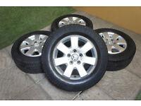 "Genuine VW Transporter T5 16"" Miyato Alloy wheels & Tyres 5x120"