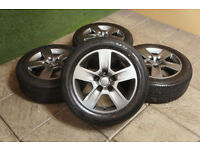 "Genuine Audi 16"" Trapez Alloy wheels & Tyres 5x112 A4 A6 VW Golf Passat Caddy T4 Volkswagen A3"