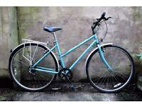 RALEIGH PIONEER, 19 inch, ladies womens hybrid road bike, 5 speed, rack and mudguards