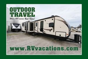 2018 FOREST RIVER LACROSSE 3370MB 2 BEDROOM BUNK HOUSE