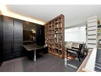 Modern, furnished studio flat to rent in the prestigious Pan Peninsula Square. Leisure facilities.