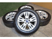 """Genuine FORD Focus MK2 MK3 16"""" Alloy wheels & Tyres 5x108 Mondeo Transit Connect"""