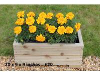 Garden Wooden Trough Planter Veg Bed Flower Plant Pots