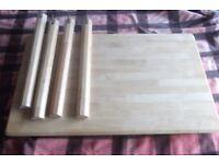solid wood Pine Table size 115 cm x 70 cm x 74 cm high 3.8 feet x 2.3 feet