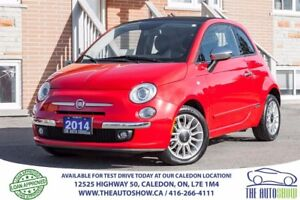 2014 Fiat 500 Lounge CONVERTIBLE NO ACCIDENT SERVICE RECORD