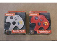 2 controllers for Nintendo N64 console