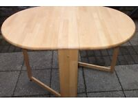 small Folding pine kitchen drop leaf dining table