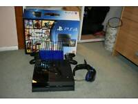 Ps4 with 12 games headset and 2 controlers