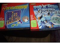pop n drop penguine frustration game & spears connect 4 in row bnib unwanted gift.