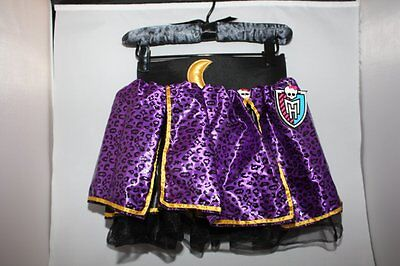 MONSTER HIGH CLAWDEEN WOLF PURPLE LEOPARD PRINT PETTI SKIRT COSTUME DRESS UP NWT (Monster High Dress Up Clawdeen Wolf)
