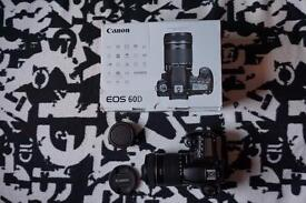 Canon EOS 60D and 18-135mm lens WITH ORIGINAL BOX, CAPS AND 1 x BATTERY