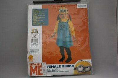 DESPICABLE ME 2 MINION DAVE CHILD HALLOWEEN COSTUME TODDLER GIRL SZ 1-2 YEARS  - Girl Minion Halloween Costume