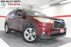 2015 Toyota Highlander Hybrid Limited AWD Heated Lthr Nav Sunroo