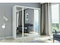 😍👌 EXCLUSIVE DESIGN NEW YORK 2 AND 3 DOORS SLIDING WARDROBE WITH FULL MIRRORS, BOOK NOW!!