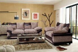 Furniture Defines You-DINO JUMBO CORD FABRIC CORNER SOFA SUITE - 3 and 2 SEATER